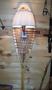 cabin decor lodge sled: rusticsnowshoewalllampcabinlodgedecorby  rusticsnowshoewalllampcabinlodgedecorby