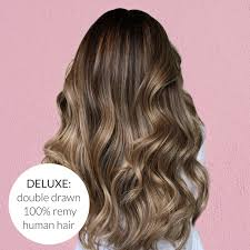 Balayage Ombre Donker Bruin Naar Donker Blond Mly Clip In