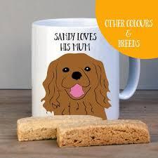 personalised cavalier king charles spaniel gift mug