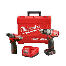 milwaukee m12 logo. milwaukee m12 fuel 12-volt lithium-ion brushless cordless 1/2 in. drill/impact combo kit with free 3/8 ratchet (tool only)-2594-22-2457-20 - the logo