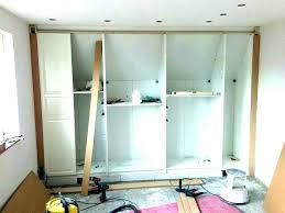 built in wall closet ideas knee wall closet ideas storage large attic built in