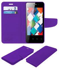 Karbonn A4 Flip Cover by ACM - Purple ...