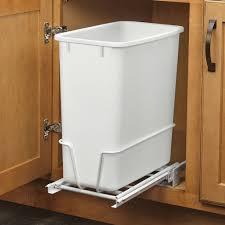 Kitchen cabinet trash can Waste Container 20 Quart White Trash Can Kitchen Waste Bin Garbage Pull Kitchen Cabinet Trash Slide Out Strekalovainfo 20 Quart White Trash Can Kitchen Waste Bin Garbage Pull Standard