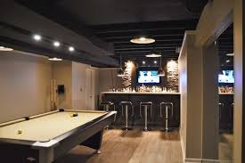 Black Painted Basement Ceiling vs White Painted Basement Ceiling