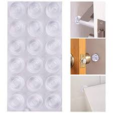 austor 18 pack clear door pers self adhesive door stopper pers wall protectors rubber feet for furniture crafts gl electronics