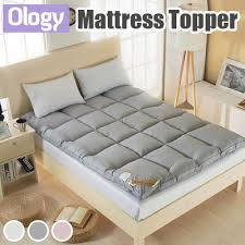thick mattress topper. Mattress Topper Cover 5cm 10cm Thick Protector Anti-bacterial Anti-mite Foam Quilt Tatami