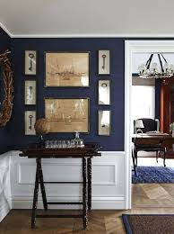 navy blue grasscloth wallpaper inspired by