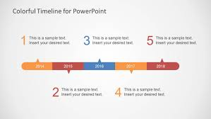 Timeline Slides In Powerpoint Colorful Timeline Template For Powerpoint Slidemodel