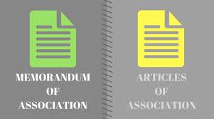 Memorandum Of Association And Articles Of Association (Detailed ...