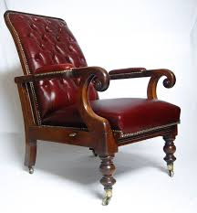 william iv bergere gany leather reclining library armchair william smee design library chairantique