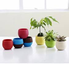 office flower pots. Creative Colorful Plastic Plant Planter Garden Home Office Flower Pot Decor Pots