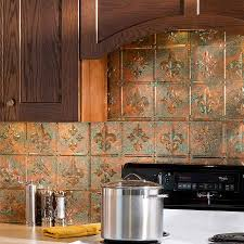 Tin Backsplashes For Kitchens Backsplash Copper Iron Chef Stainless Steel And Copper