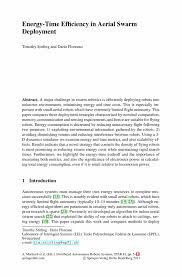 energy time efficiency in aerial swarm deployment springer distributed autonomous robotic systems distributed autonomous robotic systems