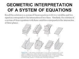parallel planes equations. geometric interpretation of a system equations recall the solution to system of linear equations parallel planes
