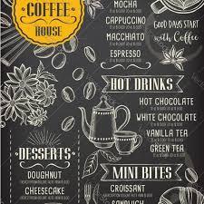 Cafe Menu Template Coffee Restaurant Cafe Menu Template Design Vector Image