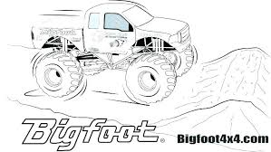 Bigfoot Monster Truck Coloring Pages Monster Truck Coloring Pages