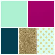 mint, fuschia, dark teal, gold bedroom colors | Bedroom ...