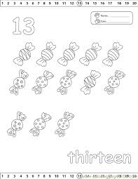 Small Picture 13 Number Coloring Page Free Numbers Coloring Pages
