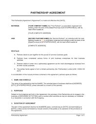 Partnership Agreement - Template & Sample Form | Biztree.com