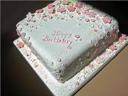 Simple Flower Birthday Cake Classic Style Flower Birthday Cakes