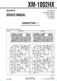sony xav 63m xav 64bt btm ver1 4 sm service manual sony