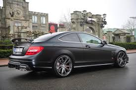 Brabus Bullit Coupe 800 is a Mercedes C63 AMG Coupe with a V12 on ...