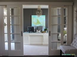 appealing home office sliding doors home office makeover reveal office cubicle sliding doors