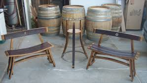 Wood barrel furniture Whisky Barrel Click Image For Larger Version Name Bench1 Plnt Atndjpg Views Restoration Hardware Wine Barrel Furniture Woodworking Talk Woodworkers Forum