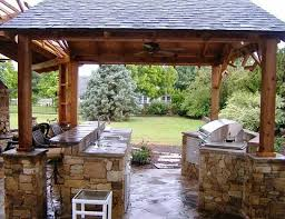... nicely decorated garden kitchen design with patio ...