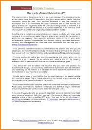 10 Sample Personal Statement For Resume Azzurra Castle Grenada