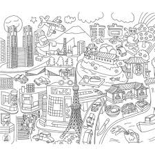 Omy Citymap Placemat Kleurplaat 24 Stuks Acaza Shop