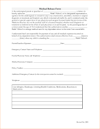 Sample Medical Release Form Medical Release Form24png Questionnaire Template 5