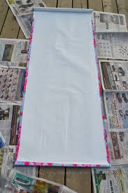 Roman Blind Diy Make A No Sew Fabric Covered Roller Shade The Diy Mommy