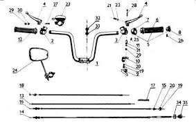 jawa moped jmmhx metal throttle slide screw handlebar part x jawamoped com provides the complete parts diagrams for the jawa 210 moped
