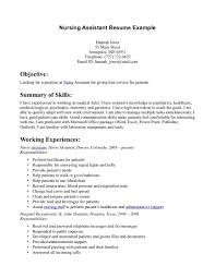 Certified Nursing Assistant Resume Samples Resume Nursing Aide And