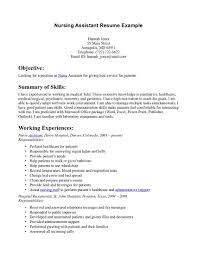 certified nursing assistant resume samples cover letter sample certified nursing assistant resume samples resume nursing aide and assistant sample cna help essay intended