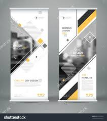 Product Brochure Cover Design Abstract Composition White Roll Up Brochure Cover Design