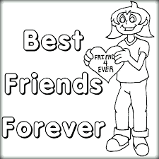 Best Friend Coloring Pages For Girls Best Friends Forever Girl With
