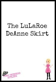Deanne Skirt Size Chart Lularoe Deanne Skirt Rebecca Balich
