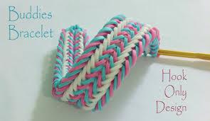 Buddies Bracelet Hook Only Design Rainbow Loom Bands