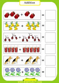 Kids Under 7: Addition WorksheetsKindergarten Addition Worksheets