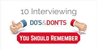 The Do S And Don Ts Of An Interview Top 20 Interviewing Dos And Donts You Should Remember