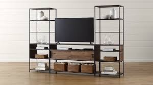 tall media console. Knox Media Console With 2 Tall Open Bookcases + Reviews | Crate And Barrel O