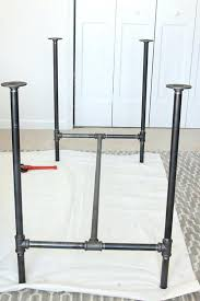 steel pipe furniture. Black Pipe Furniture The Assembled Legs Of A Industrial Chic Workbench Steel