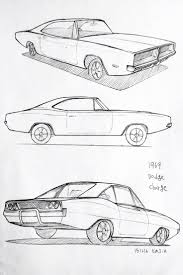 Car Drawing 151216 1969 Dodge Charger