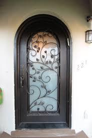 door rod iron doors unique impressive design iron glass front doors and frosted door