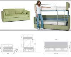 sofas convert to bunk beds in seconds