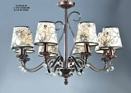 lamp socket 6 light printed cloth art cover copper contemporary chandeliers chandelier lamp socket covers