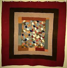 59 best Mennonite Quilts images on Pinterest | Ohio, Hearts and ... & Elegant Mennonite Tumbling Blocks patterned quilt, circa 1920-1950 is  hand-stitched of Adamdwight.com
