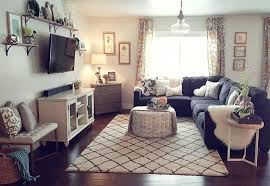 gray living room tan couch dining table ideas sofa dark light walls apartment furniture glamorous good looking